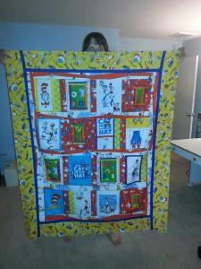Dr Seuss border quilt