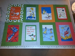 Two rows of Dr Seuss Quilt