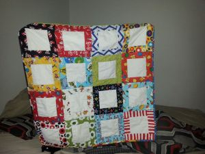 Dr Seuss baby quilt for my grandson, who's due in early July.